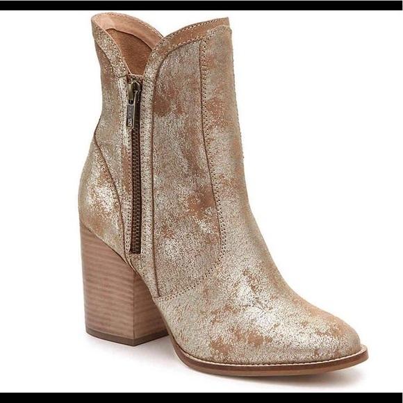7daeaa87700c Lori Block heel western bootie gold dust. M 5b67644504ef505114eb39ca
